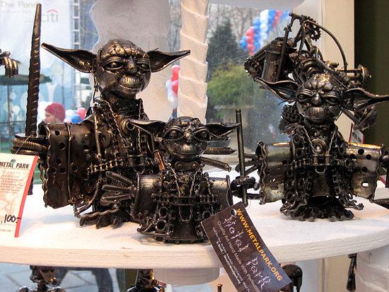 Master Yoda made from scrap metal