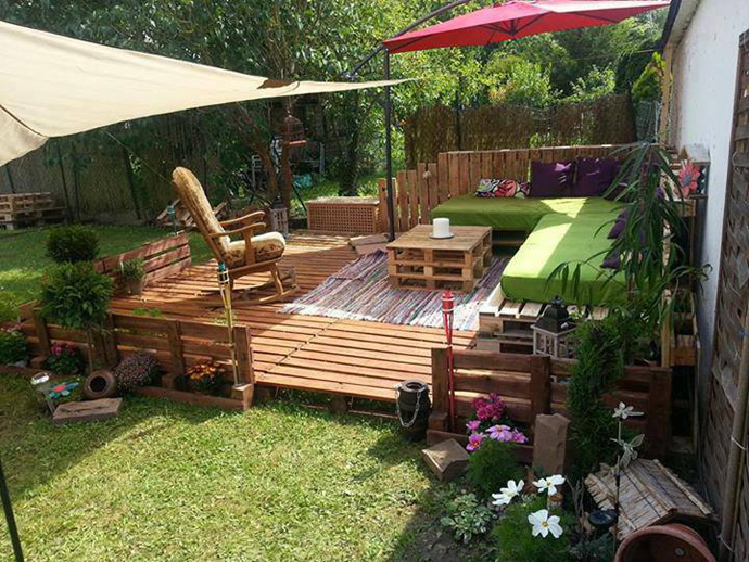 DIY Garden Furniture from Old Pallets